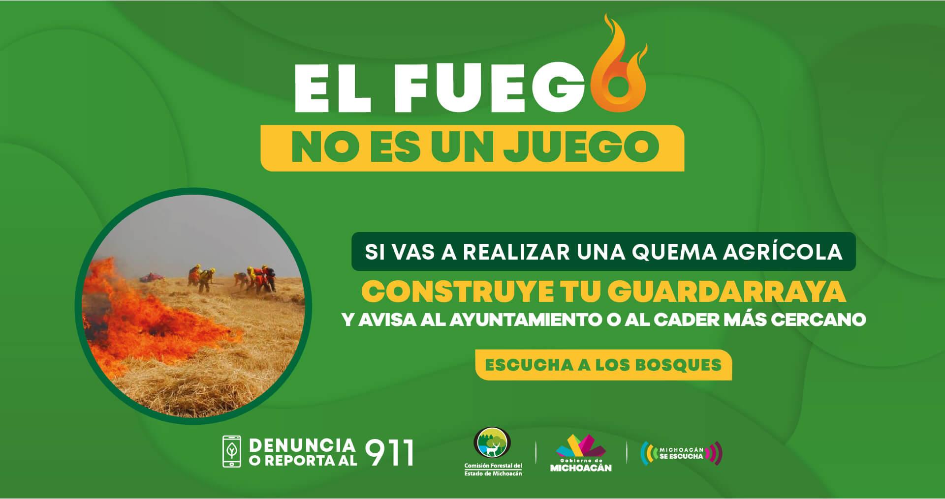 campaña contra incendios michoacan