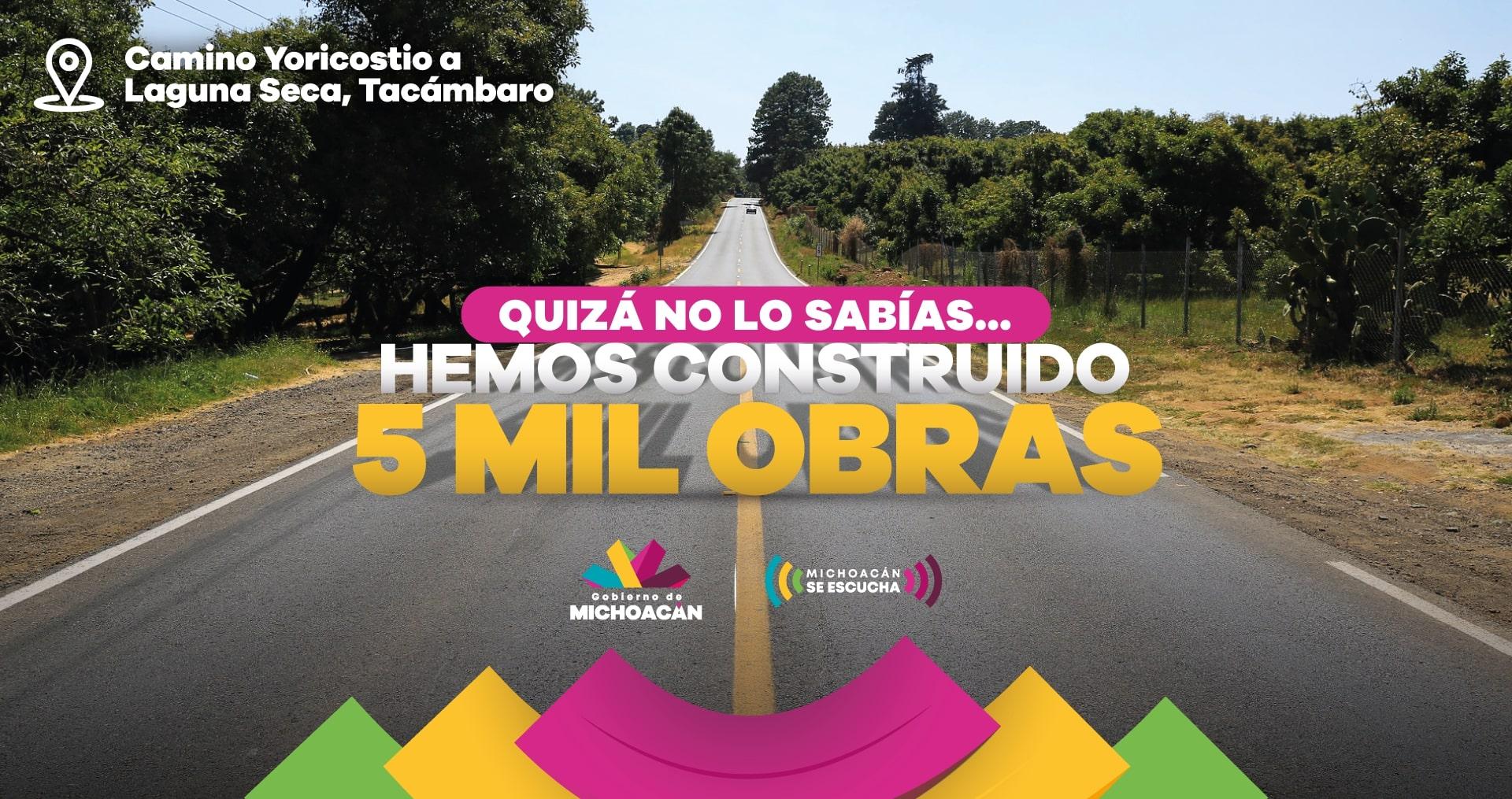 cinco mil obras en michoacan